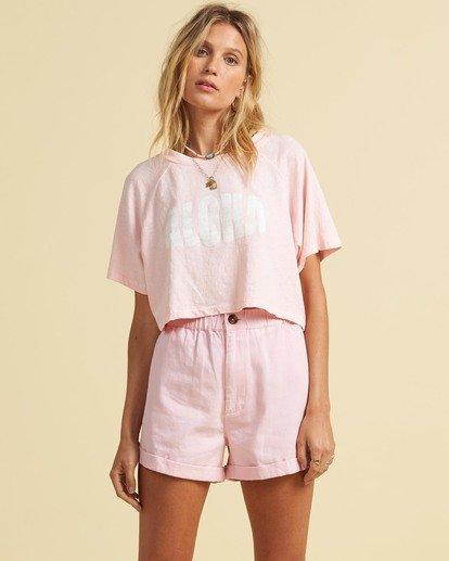 1 Salty Blonde Just Beachin - High Neck Top for Women Pink U3KT30BIF0 Billabong