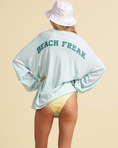 2 Salty Blonde Beach Boyfriend - High Neck Top for Women Blue U3KT32BIF0 Billabong