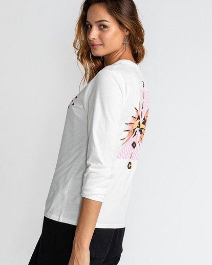 2 Far Out Logo - Camiseta para Mujer Beige U3LS03BIF0 Billabong