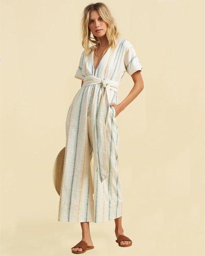 3 Salty Blonde Dream Weaver - Short Sleeve Jumpsuit for Women Multicolor U3PT30BIF0 Billabong