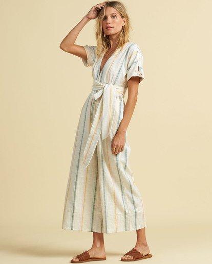 1 Salty Blonde Dream Weaver - Short Sleeve Jumpsuit for Women Multicolor U3PT30BIF0 Billabong