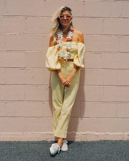 Salty Blonde Moonlight - Trousers for Women  U3PT31BIF0