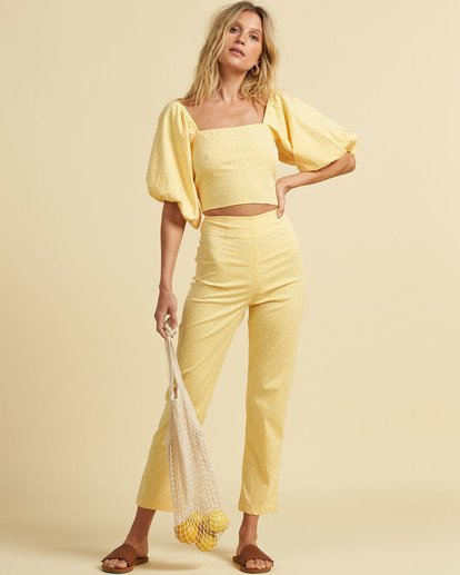 4 Salty Blonde Moonlight - Trousers for Women Yellow U3PT31BIF0 Billabong