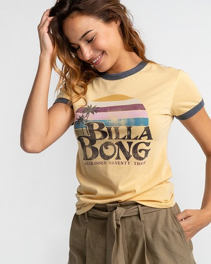 1 Sunriser - Camiseta para Mujer  U3SS07BIF0 Billabong
