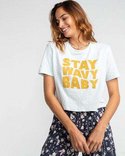 1 Stay Wavy - Camiseta para Mujer  U3SS18BIF0 Billabong