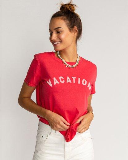 0 Vacation Vibrations - Camiseta para Mujer Rosa U3SS28BIF0 Billabong