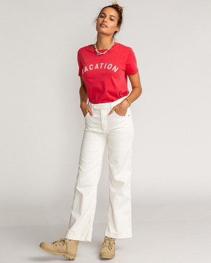 2 Vacation Vibrations - Camiseta para Mujer Rosa U3SS28BIF0 Billabong