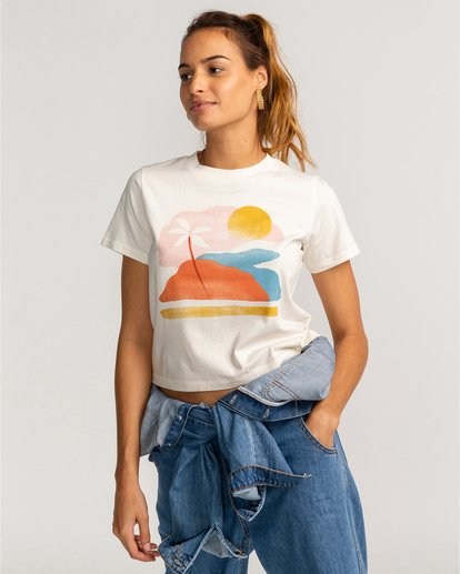 0 Paint The Sky - T-Shirt für Frauen Beige U3SS30BIF0 Billabong