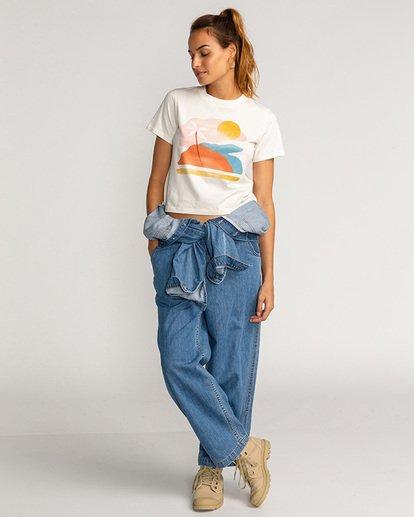 1 Paint The Sky - T-Shirt für Frauen Beige U3SS30BIF0 Billabong