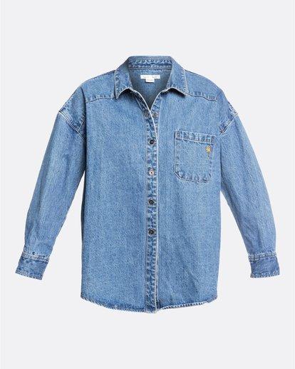 5 Salty Blonde Feeling Salty - Veste en jean pour Femme Bleu U3TP30BIF0 Billabong