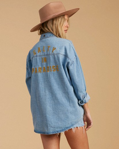 3 Salty Blonde Feeling Salty - Veste en jean pour Femme Bleu U3TP30BIF0 Billabong