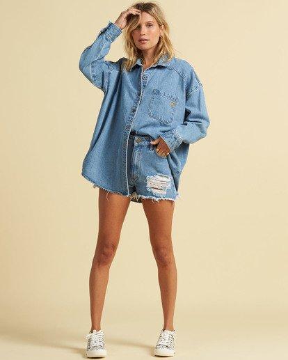 4 Salty Blonde Feeling Salty - Veste en jean pour Femme Bleu U3TP30BIF0 Billabong