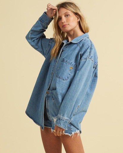 2 Salty Blonde Feeling Salty - Veste en jean pour Femme Bleu U3TP30BIF0 Billabong
