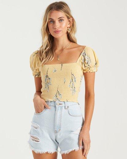 1 Another Sun Honeysuckle - Camisa recortada para Mujer  U3TP42BIMU Billabong