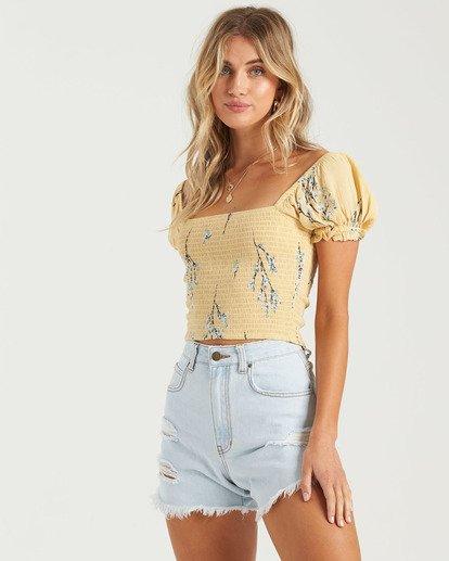 3 Another Sun Honeysuckle - Camisa recortada para Mujer  U3TP42BIMU Billabong