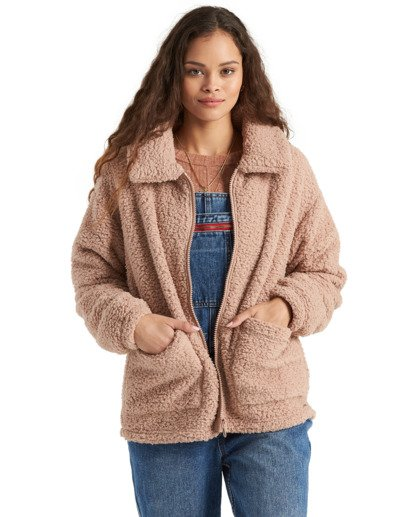 4 Scenic Route - Fleece for Women Beige U3WA15BIMU Billabong