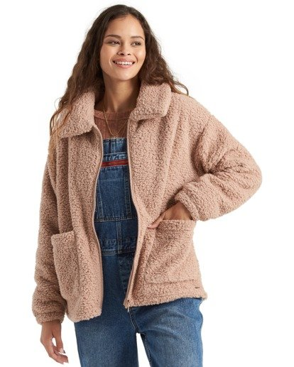 5 Scenic Route - Fleece for Women Beige U3WA15BIMU Billabong