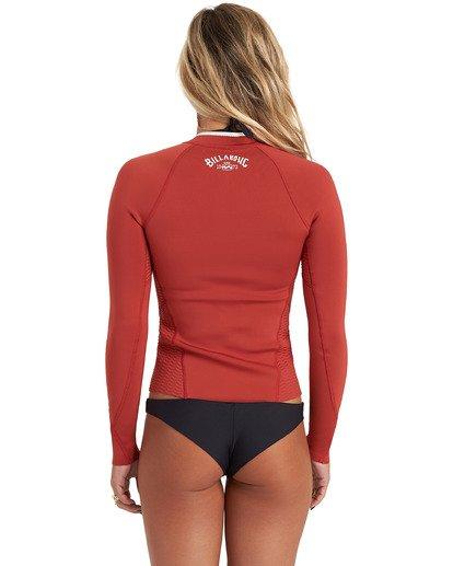 3 Surf Capsule Peeky - Wetsuit Jacket for Women Brown U42G35BIF0 Billabong