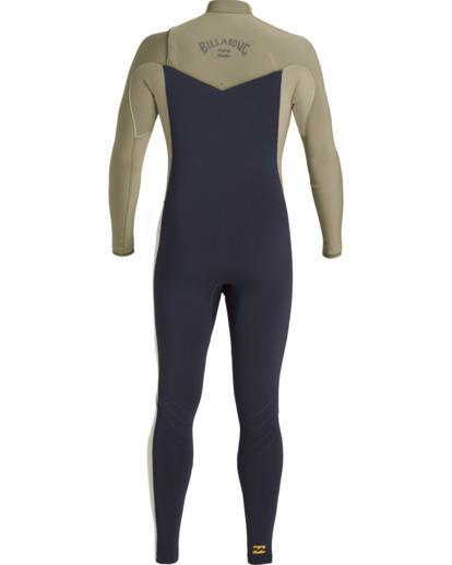 3 Revolution 3/2mm GBS - Chest Zip Wetsuit for Men Blue U43M55BIF0 Billabong