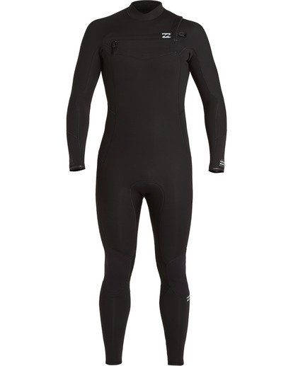 4 Absolute 3/2mm GBS - Chest Zip Wetsuit for Men Black U43M56BIF0 Billabong