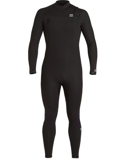 1 Absolute 3/2mm GBS - Chest Zip Wetsuit for Men Black U43M56BIF0 Billabong