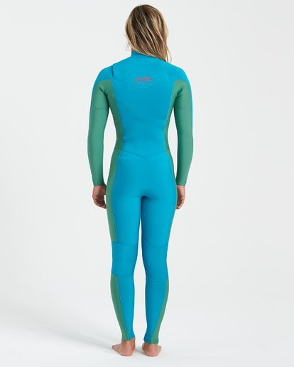 2 Synergy 4/3mm GBS - Chest Zip Wetsuit for Women Blue U44G34BIF0 Billabong