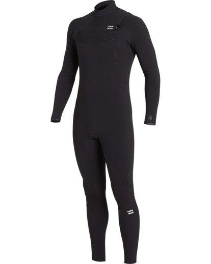 1 Furnace Comp 4/3mm GBS - Chest Zip Wetsuit for Men Black U44M52BIF0 Billabong