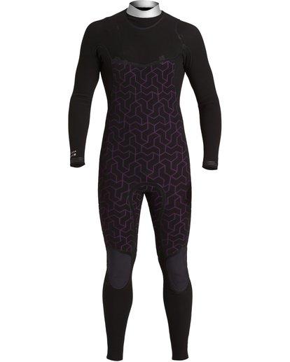 7 Furnace Comp 4/3mm GBS - Chest Zip Wetsuit for Men Black U44M52BIF0 Billabong