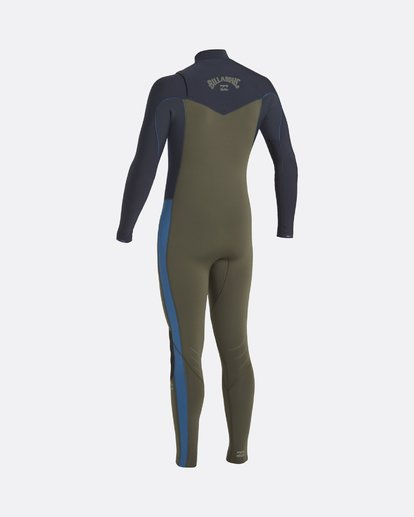 1 Revolution 4/3mm GBS - Chest Zip Wetsuit for Men Green U44M56BIF0 Billabong