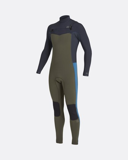 0 Revolution 4/3mm GBS - Chest Zip Wetsuit for Men Green U44M56BIF0 Billabong