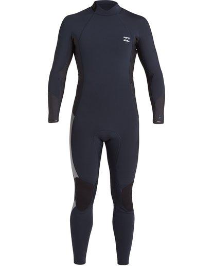 1 Absolute 4/3mm GBS - Back Zip Wetsuit for Men Blue U44M59BIF0 Billabong