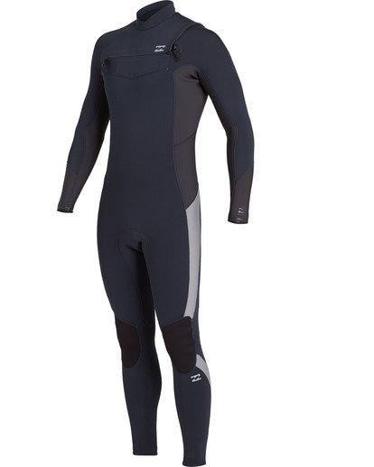 1 Absolute 4/3mm GBS - Chest Zip Wetsuit for Men Blue U44M60BIF0 Billabong