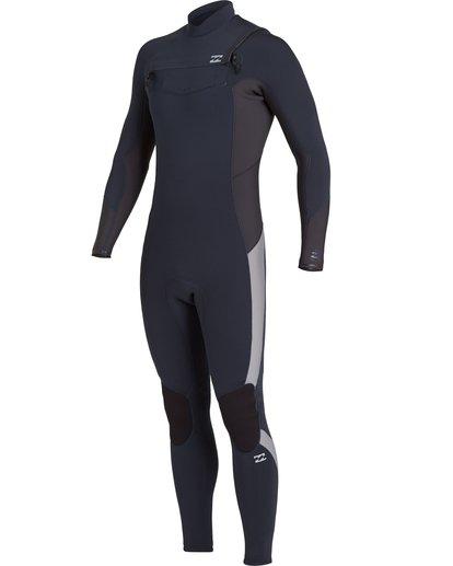 0 Absolute 4/3mm GBS - Chest Zip Wetsuit for Men Blue U44M60BIF0 Billabong