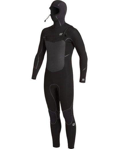 1 Absolute 5/4mm Hd GBS - Traje de surf con cremallera frontal para Hombre Negro U45M57BIF0 Billabong