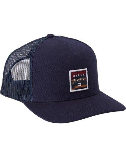 1 Stacked - Trucker Cap for Men Blue U5CT04BIF0 Billabong