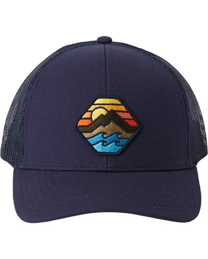 2 Adventure Division Collection Walled - Trucker Cap for Men Blue U5CT07BIF0 Billabong
