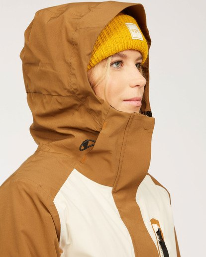 9 Adventure Division Collection Trooper Stx - Waterproof Jacket for Women Brown U6JF20BIF0 Billabong