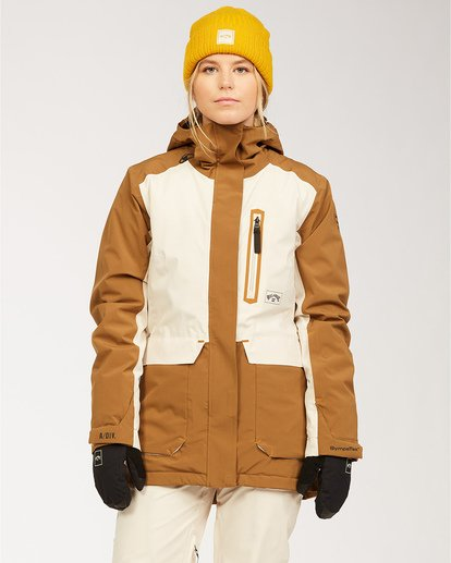 0 Adventure Division Collection Trooper Stx - Wasserdichte Jacke für Frauen Braun U6JF20BIF0 Billabong