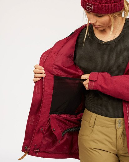 7 Into The Forest - Jacket for Women Red U6JF25BIF0 Billabong