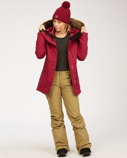 4 Into The Forest - Jacket for Women Red U6JF25BIF0 Billabong