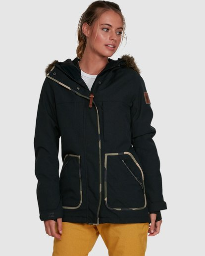 0 Into The Forest Jacket Black U6JF25S Billabong
