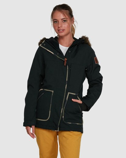 1 Into The Forest Jacket Black U6JF25S Billabong