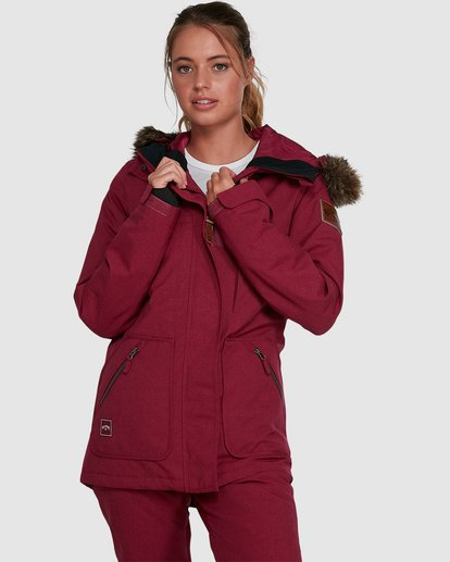 0 Into The Forest Jacket Red U6JF25S Billabong
