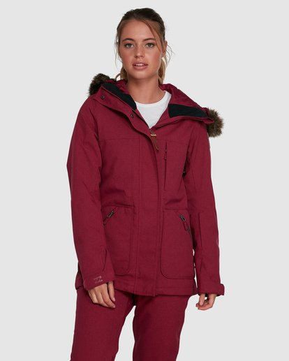 1 Into The Forest Jacket Red U6JF25S Billabong