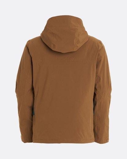10 Adventure Division Collection Delta Stx - Waterproof Jacket for Men Brown U6JM21BIF0 Billabong