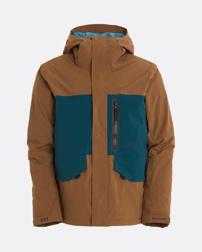 9 Adventure Division Collection Delta Stx - Waterproof Jacket for Men Brown U6JM21BIF0 Billabong