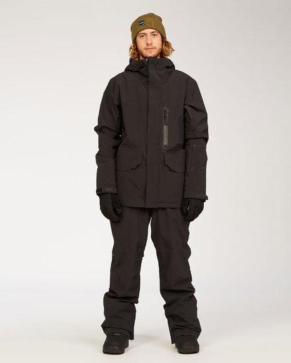6 Adventure Division Collection Delta Stx - Wasserdichte Jacke für Männer Schwarz U6JM21BIF0 Billabong