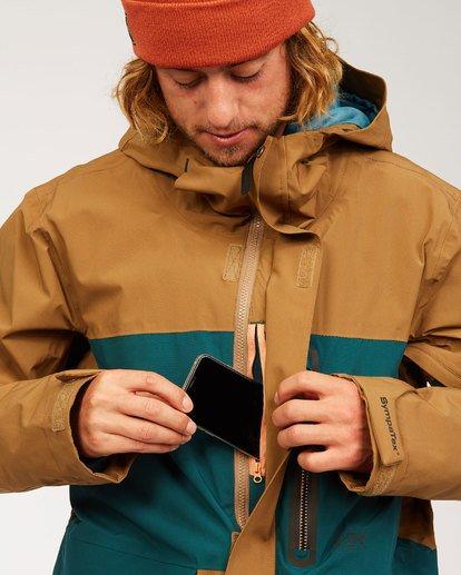 3 Adventure Division Collection Delta Stx - Waterproof Jacket for Men Brown U6JM21BIF0 Billabong