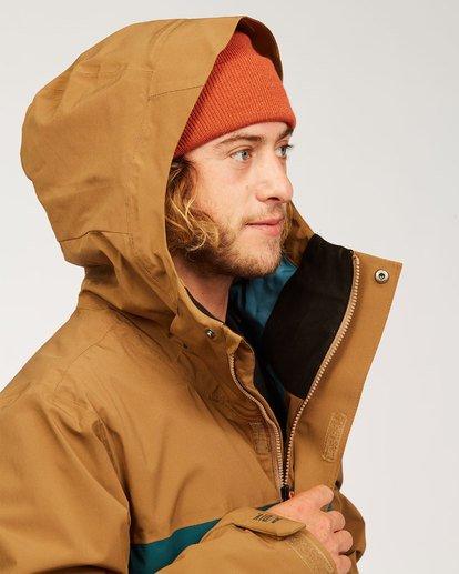 7 Adventure Division Collection Delta Stx - Waterproof Jacket for Men Brown U6JM21BIF0 Billabong
