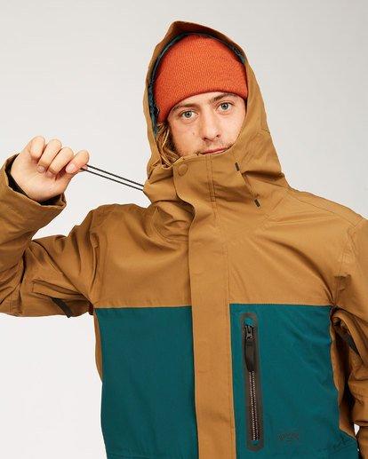 8 Adventure Division Collection Delta Stx - Waterproof Jacket for Men Brown U6JM21BIF0 Billabong
